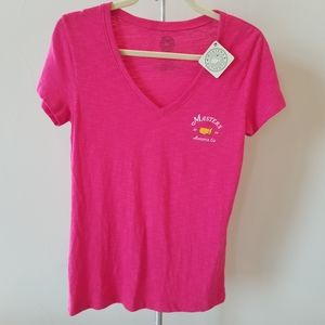 NWT Pink Masters Golf V-Neck T-Shirt Large